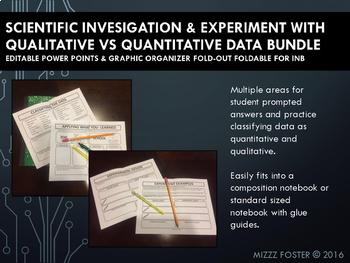 Scientific Investigation with Qualitative vs Quantitative Data Bundle