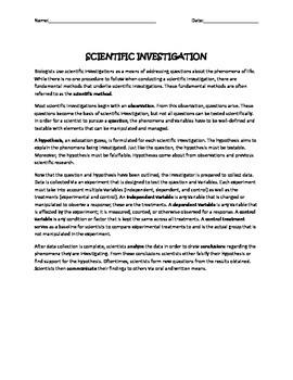 Scientific Investigations!
