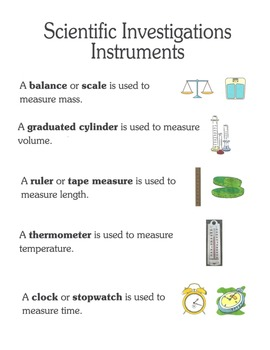 Scientific Investigations (Elementary) - Science Lesson Unit & Materials