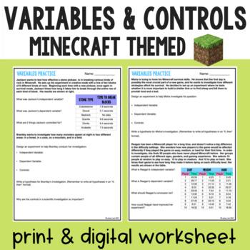 Scientific Investigations Practice with Minecraft
