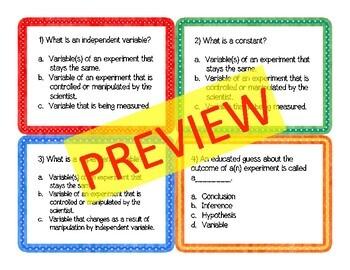 Scientific Investigations Task Cards