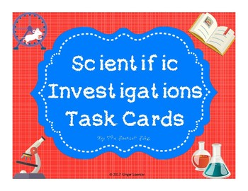 Scientific Investigations Task Cards