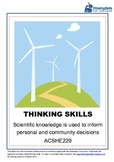 Sustainability: Scientific Knowledge Informs Decisions Abo