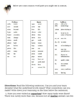 Scientific Latin Vocab (Prefix / Suffixes)