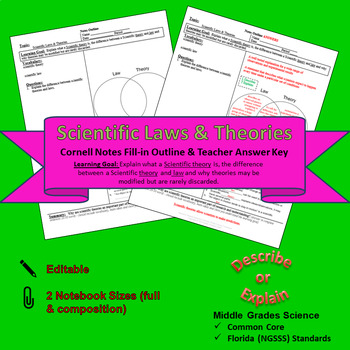 Scientific Laws and Theories Cornell Notes #8