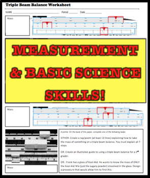 Scientific Measurement Bundle (Ruler, Graduated Cylinder & Triple Beam Balance)