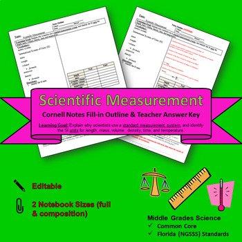 Scientific Measurement Cornell Notes #2