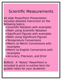 Scientific Measurement: Dimensional Analysis, Metric Conversions