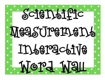 Scientific Measurement INTERACTIVE Word Wall