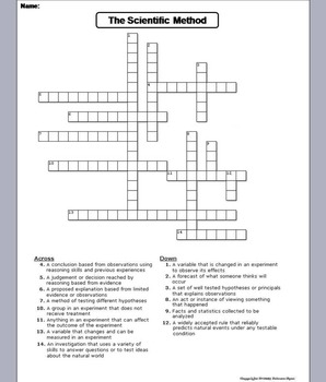 graphic about Science Crossword Puzzles Printable named Medical Process Worksheet/ Crossword Puzzle