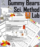 Science Experiment: Gummy Bears Lab/ The Scientific Method Worksheet