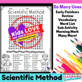 Scientific Method Activity: Scientific Method Word Search: Vocabulary