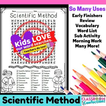 Scientific Method Activity: Scientific Method Word Search: