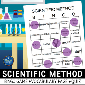 Scientific Method Vocabulary Bingo