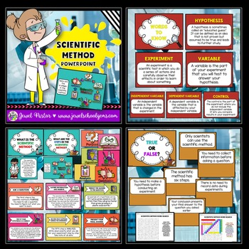 Scientific Method Activities BUNDLE (PowerPoint and Flipbook)