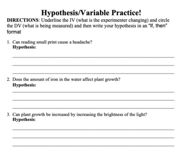 Scientific Method 3-Day Packet
