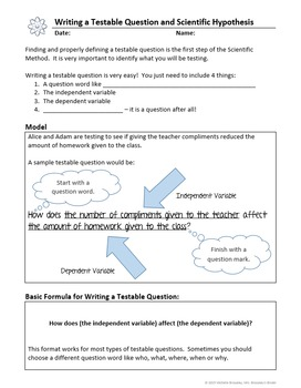 Scientific Method: A Scientific Inquiry Unit - Notes & Lab Report Template