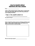 Scientific Method - Airplane Experiment - Student Lab Packet and Answer Key