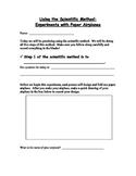 Scientific Method - Airplane Experiment - Student Lab Pack