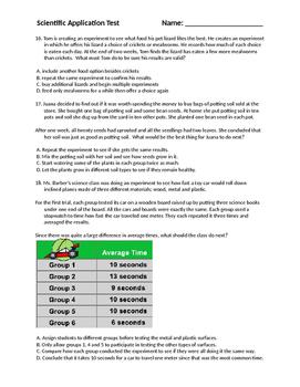 Scientific Method Application Test
