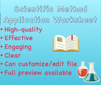 Scientific Method Application Worksheet