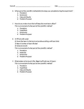 Scientific Method Assessment