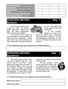 Scientific Method Beginner Workbook