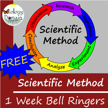 One week of Scientific Method Bell Ringers Warm Ups with Answer Key FREE!