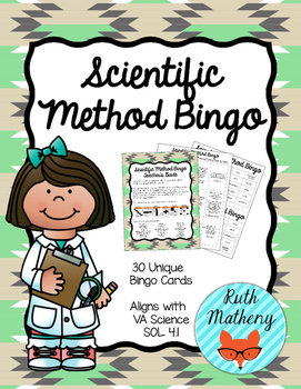 Scientific Method Bingo - VA Science SOL 4.1