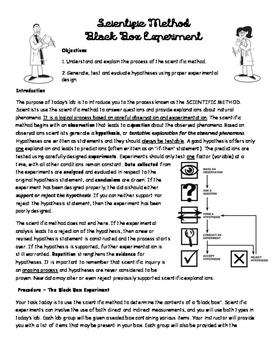 Scientific Method- Black Box Experiment