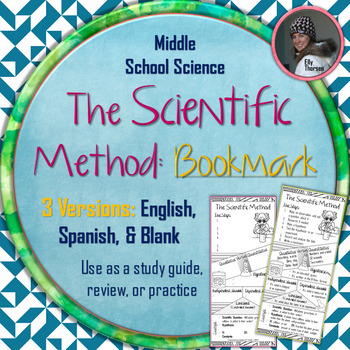 Scientific Method Bookmark: Use as a Study Guide, Review, or Practice