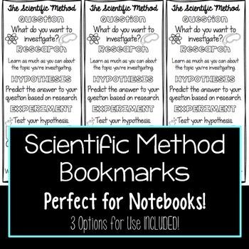 Scientific Method Interactive Bookmarks