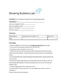 Scientific Method:  Bubble Blowing