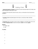 Scientific Method - Building a Tower Lab Sheet