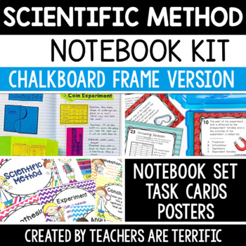 Scientific Method Bundle featuring Posters with Chalkboard Frames