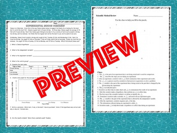 Scientific Method Bundle - Middle School - Identifying Variables