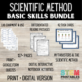 Scientific Method Basic Skills Bundle - Distance Learning + Print