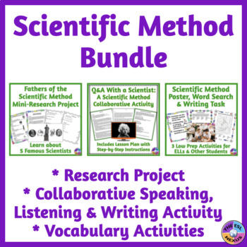 Scientific Method BUNDLE with Speaking, Listening, Reading, & Writing Activities