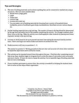 Scientific Method: Can You Write a Clear Lab Procedure?  FREE!