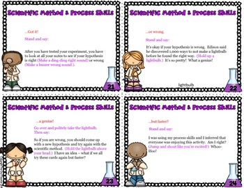 Scientific Method and Process Skills Causation Cards
