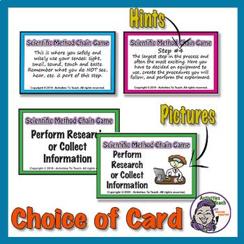 Scientific Method: Make a Scientific Method Chain (Card Game)