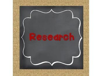 Scientific Method Chalkboard, Burlap, and Red