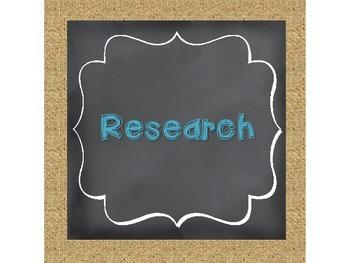 Scientific Method Chalkboard, Burlap, and Teal