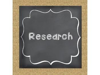 Scientific Method Chalkboard and Burlap