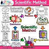Scientific Method Clip Art: Inquiry Based Science Graphics {Glitter Meets Glue}
