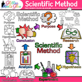 Scientific Method Clip Art {Science Graphics for Inquiry B