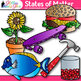 States of Matter Clip Art {Science Graphics for Solids, Liquids, and Gases}