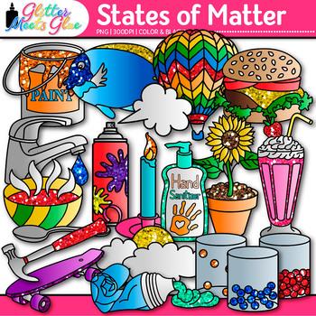 states of matter clip art science graphics for solids liquids rh teacherspayteachers com 3 states of matter clipart States of Matter Gas