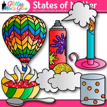states of matter clip art science graphics for solids liquids rh teacherspayteachers com States of Matter Project three states of matter clipart