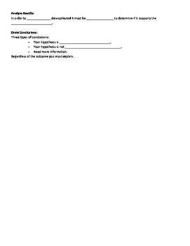 Scientific Method Cloze Notes